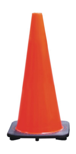 700mm Plain Traffic Cone