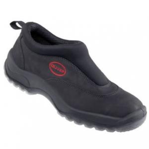 BLACK SLIP ON SPORTS SHOE-SAFETY