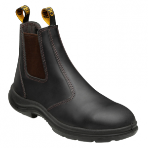 CLARET E/LASTIC SIDED BOOT-SAFETY