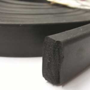 EPDM SPONGE RUBBER EXTRUSION - 8 X 8 X 5MM TAPERED