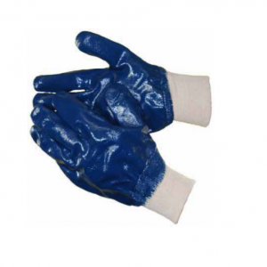 HEAVY DUTY FULLY DIPPED BLUE NITRILE GLOVES