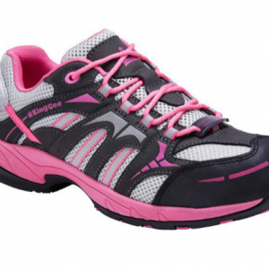 KING GEE COMPTEC WOMENS SPORT PNK/GRY