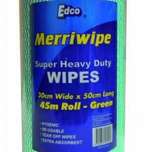 MERRIWIPE H/D WIPES GREEN 45MTR