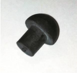 """MUSHROOM BUFFER 4.7MM (3/16"""") SHANK  BLACK"""