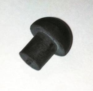"""MUSHROOM BUFFER 10MM (3/8"""") SHANK BLACK"""