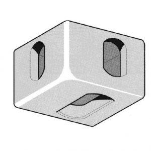 Corner Casting Lower LH Front. Lower RH Rear