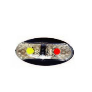 Led lamp - Red / Amber Side Position Marker - pre-Wired w/- 2.5m of Cable - 60 x 30mm