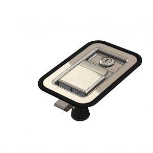 Flush Paddle Latch - Key Locking