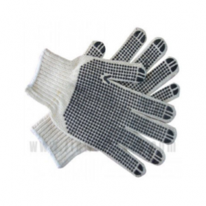 POLKADOT KNITTED COTTON GLOVE