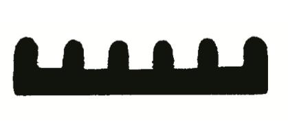 RIBBED BOAT TRAILER STRIP