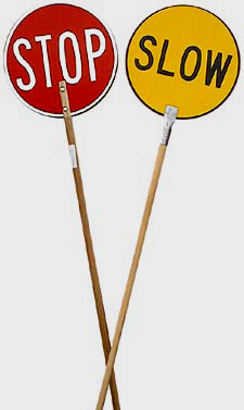 STOP/SLOW LOLLIPOP BAT