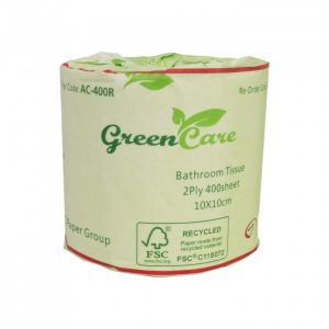 TOILET ROLLS 2PLYx400sh RECYCLED