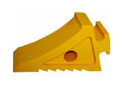 WHEEL CHOCK YELLOW WITH HANDLE L250MM X W90MM X H150MM