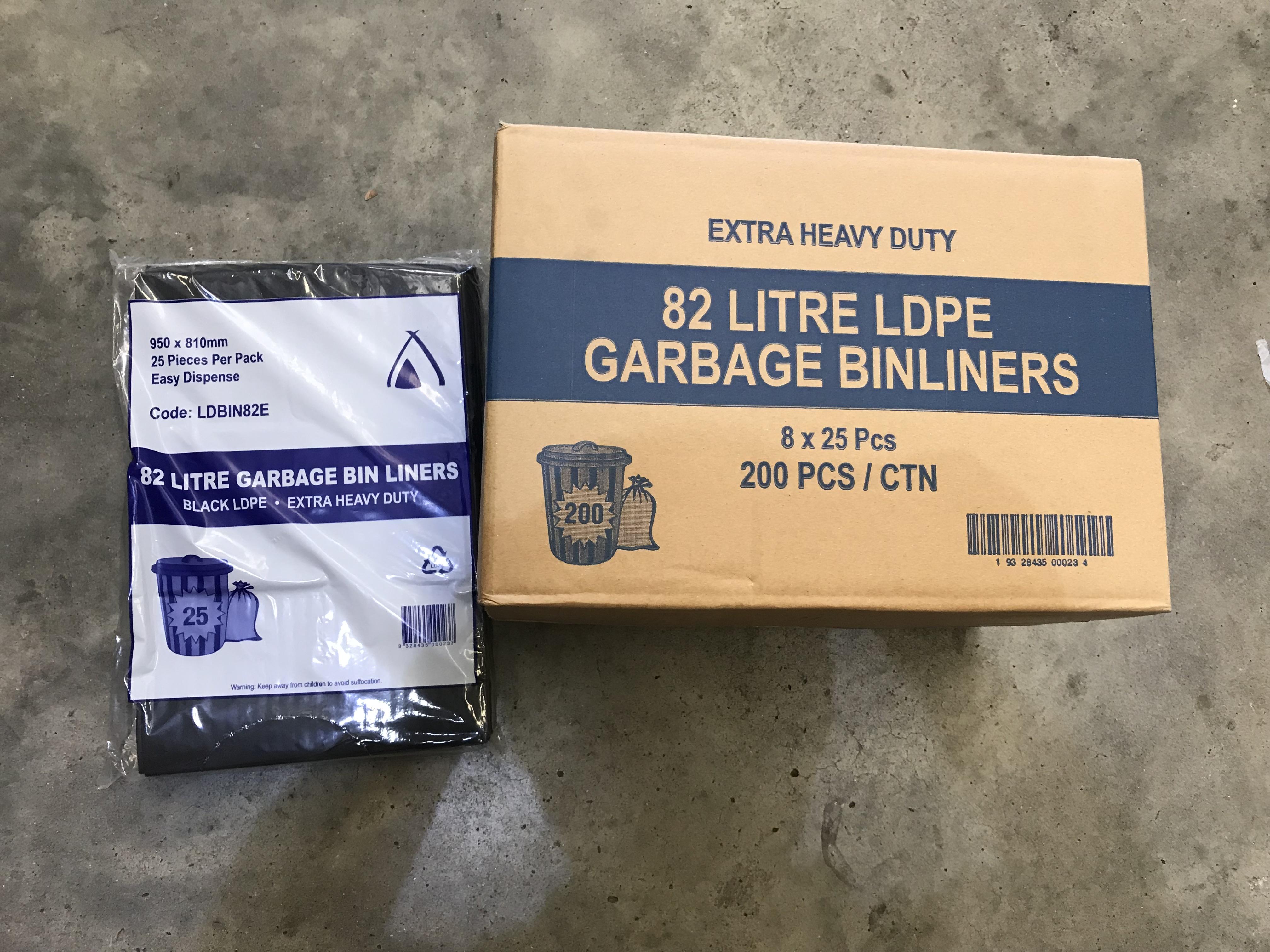 Bin Liner 82L HD LDPE Black