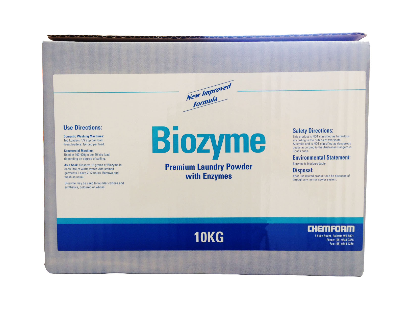 Biozyme Enzyme boosted premium laundry powder 10kg
